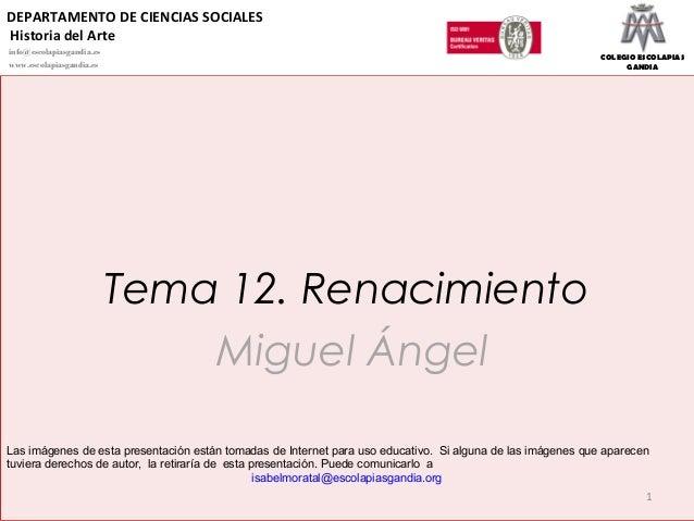 12.  renacimiento miguel angel 2015