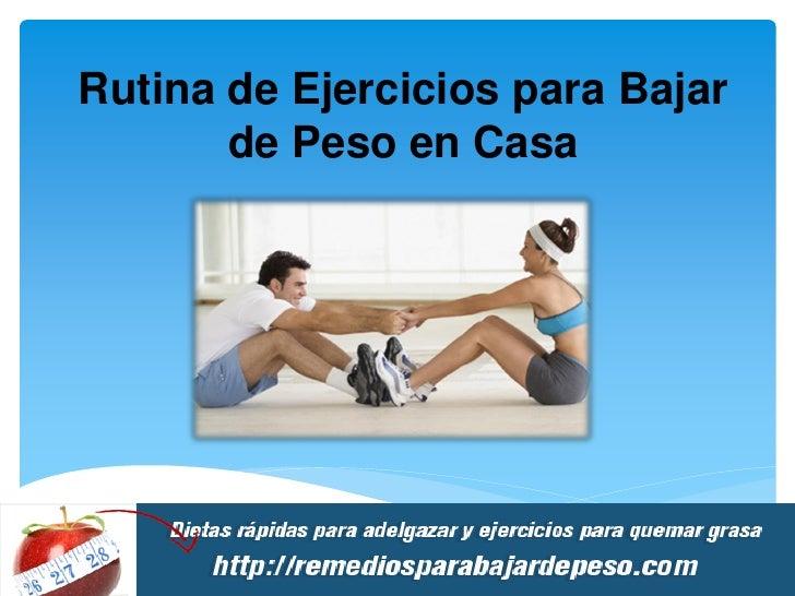 Rutina de ejercicios para bajar de peso en casa - Ejercicios para adelgazar barriga en casa ...