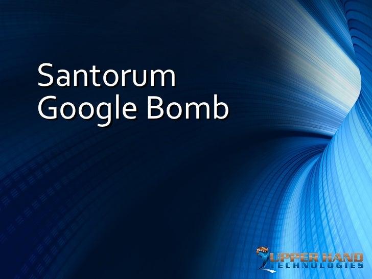Santorum Google Bomb