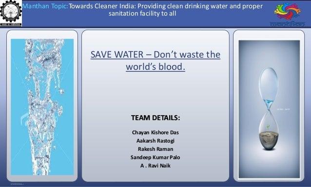RESEARCH POSTER PRESENTATION DESIGN © 2012 www.PosterPresentations.com SAVE WATER – Don't waste the world's blood. TEAM DE...