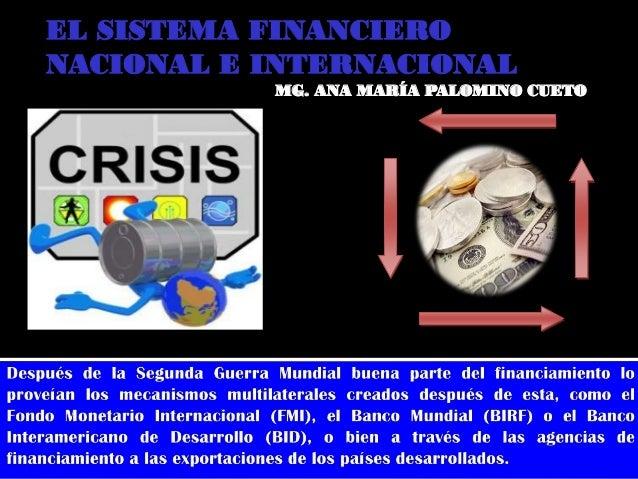 12 sistema financiero nacional e internacional for Que es politica internacional