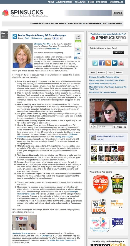 12 Steps to Creating QR Code Campaigns by @truemc   spinsucks.com