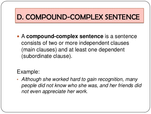 Examples+Of+Compound+Words+Sentence Complex Sentence Examples 12 ...
