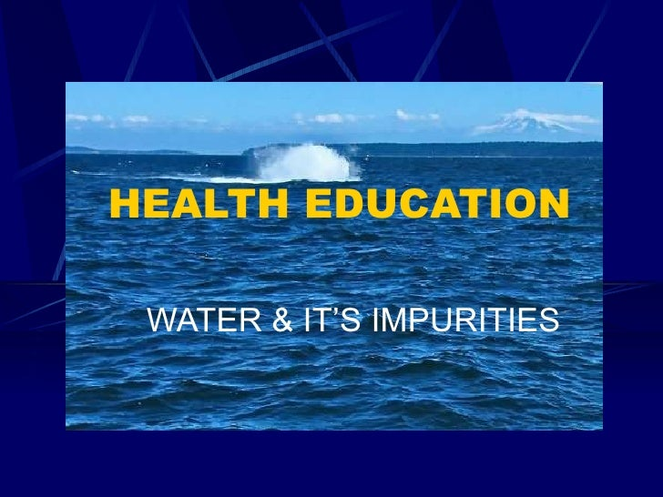 12. water and its impurities