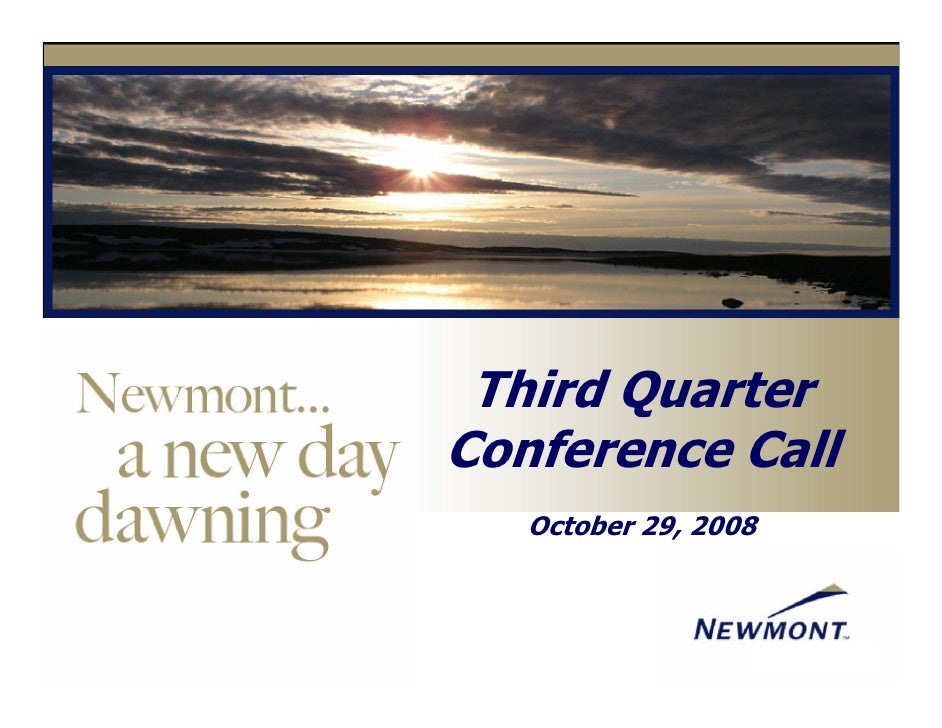 Third Quarter Conference Call    October 29, 2008