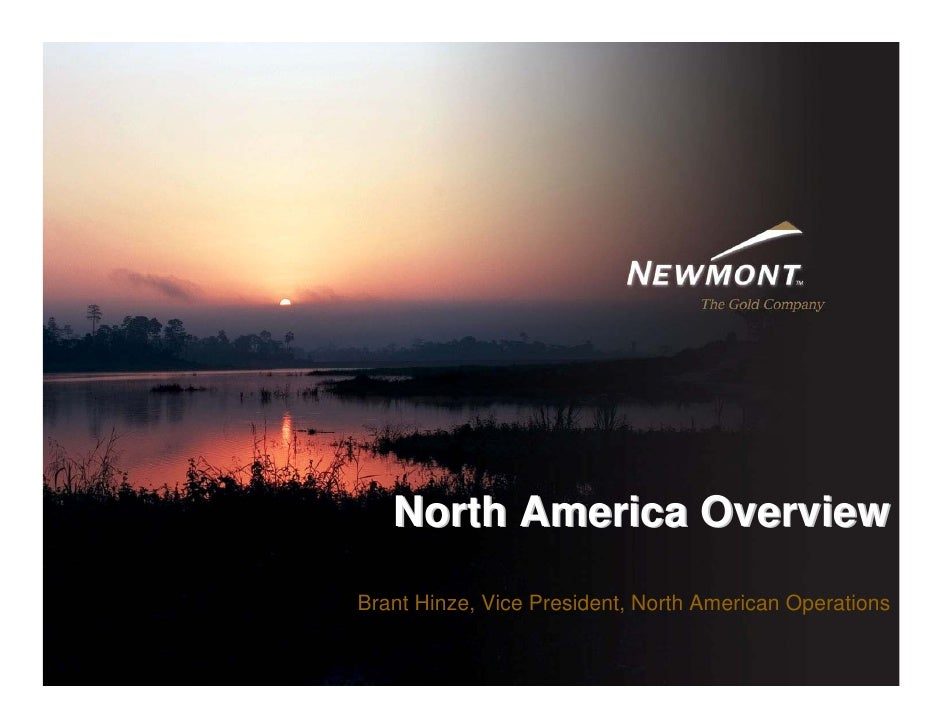 North America Overview Brant Hinze, Vice President, North American Operations                                             ...