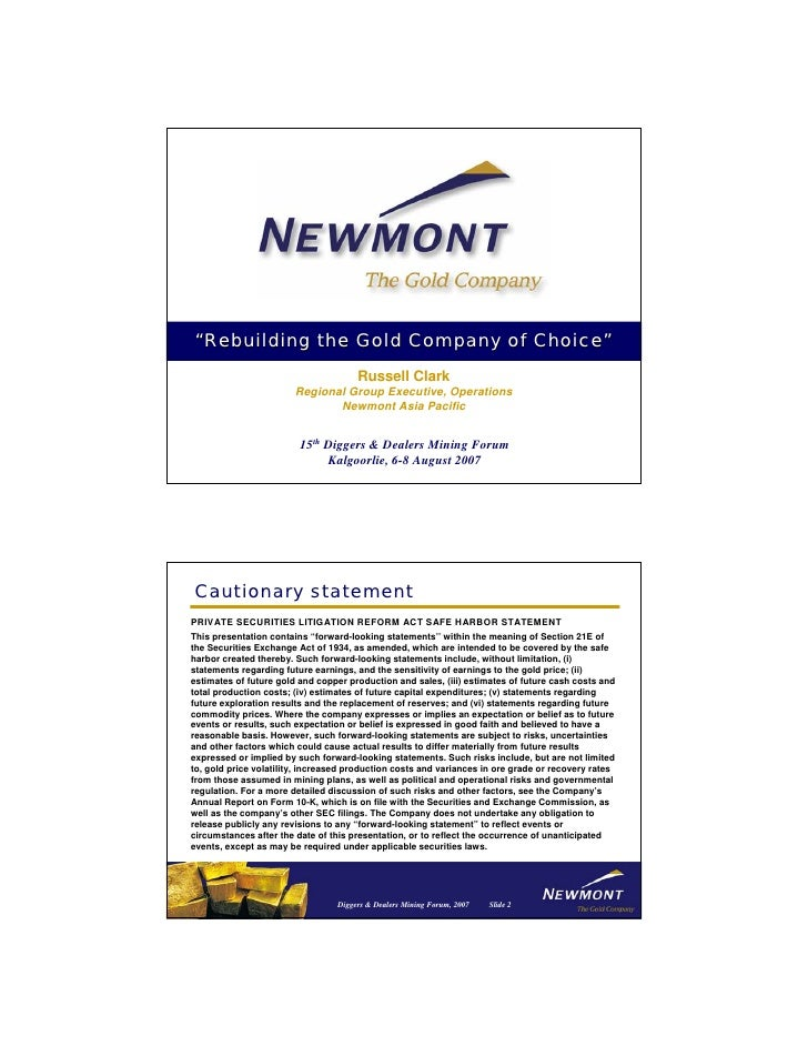 newmont mining Diggers_RClark