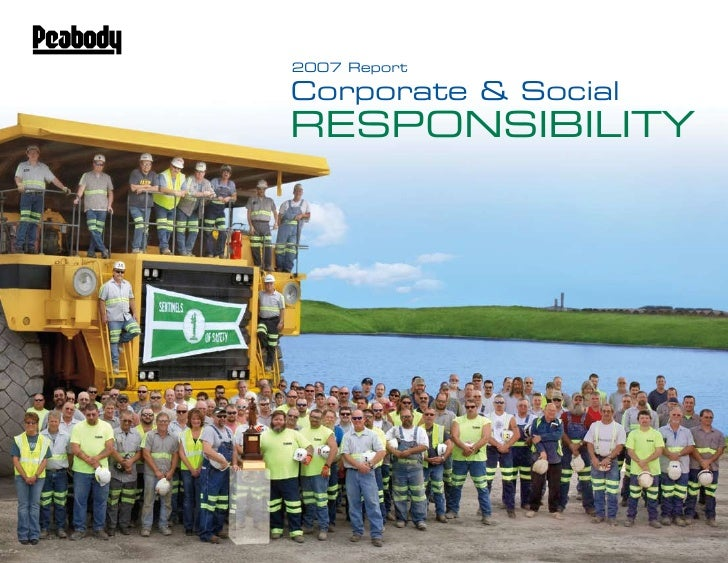 2007 Report  Corporate & Social ReSponSibility