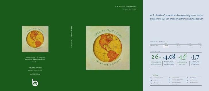 W. R. berkley annual reports 2005
