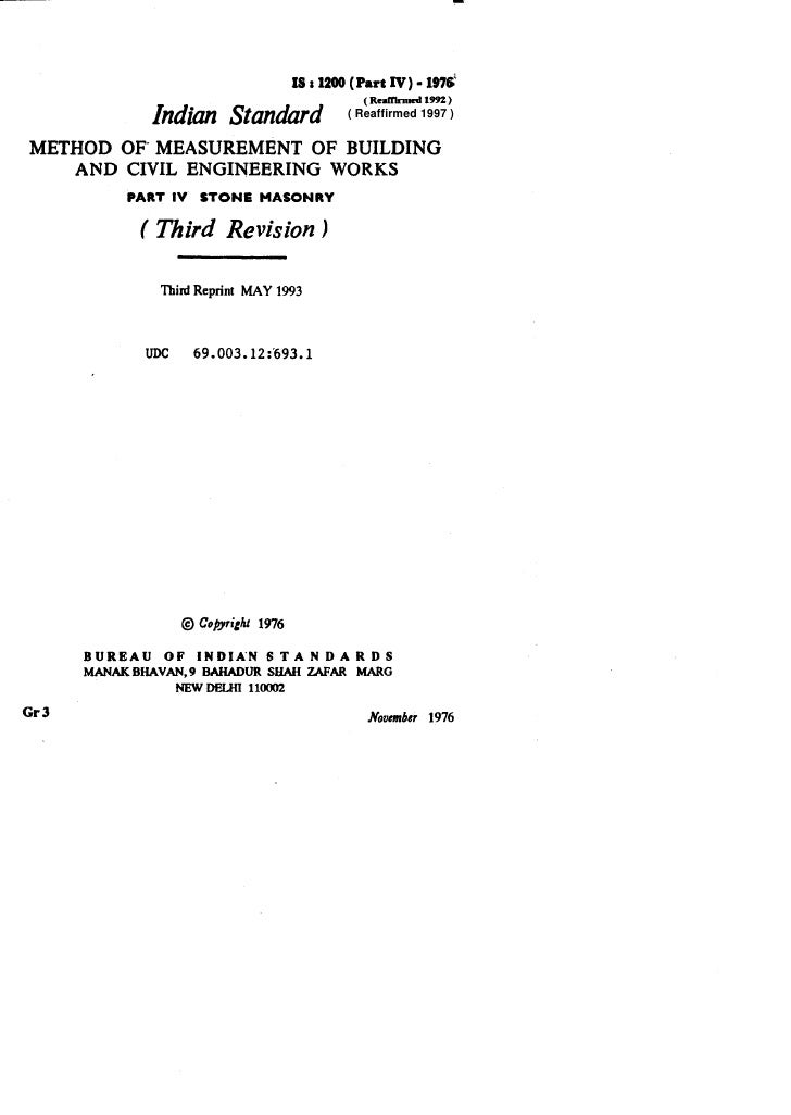 lS*l2OO(PartlV)-197&                                                ( Reaffii   1992 )                Indian Standard     ...