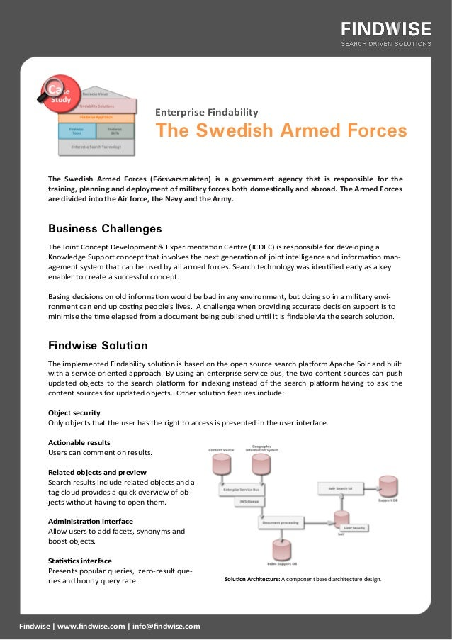 Enterprise Search Case Study: Swedish Armed Forces