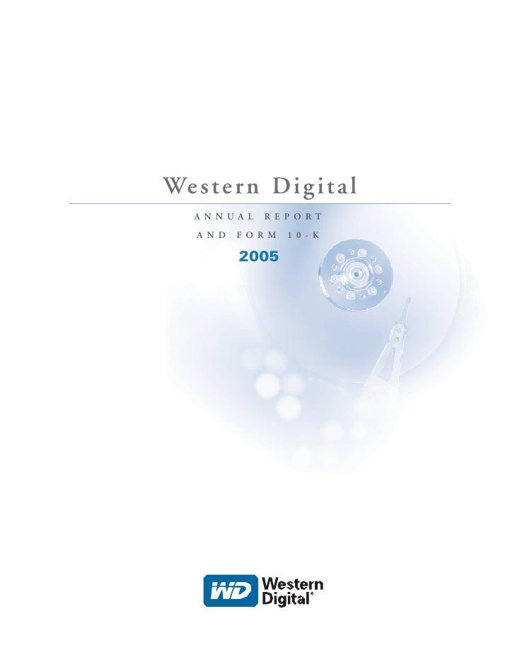 western digital  annual05