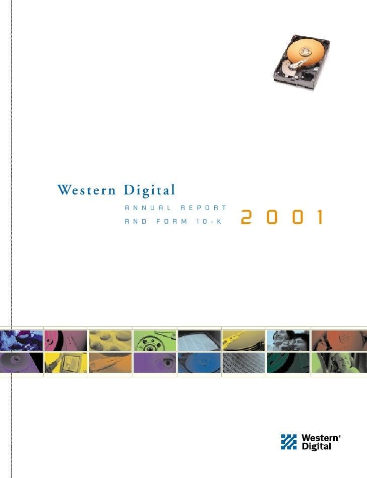 We s t e r n D i g i t a l               ANNUAL         REPORT                                        2001               A...