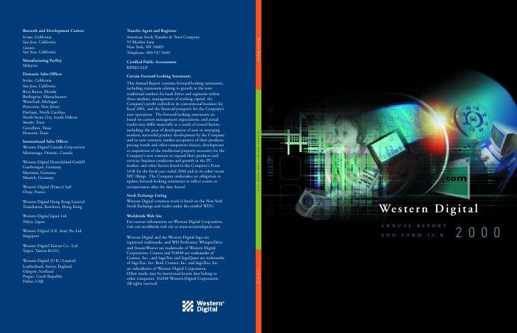 western digital  annual00