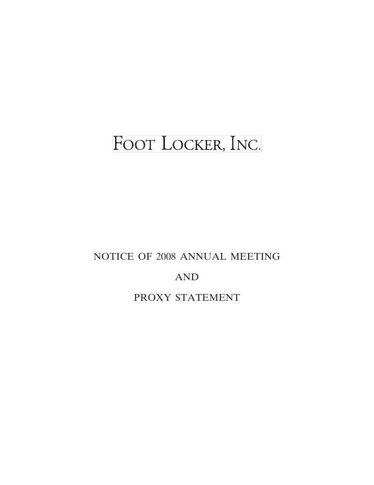 foot locker proxy reports 2008
