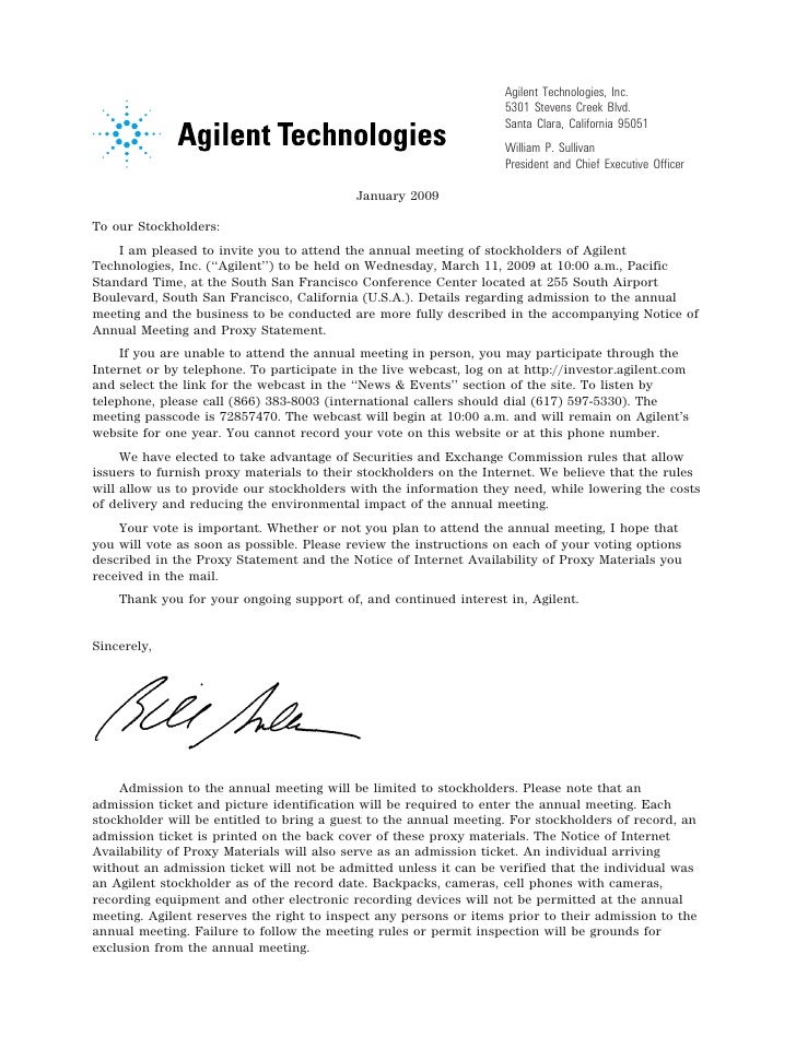 agilent  2009_Proxy_Statement