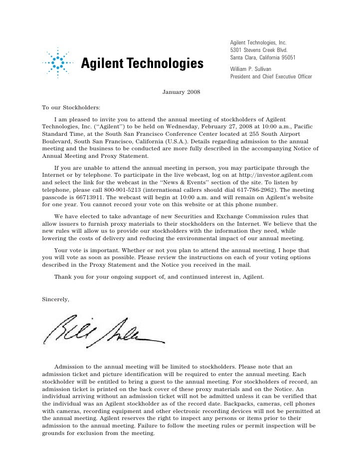 Agilent Technologies, Inc.                                                                         5301 Stevens Creek Blvd...