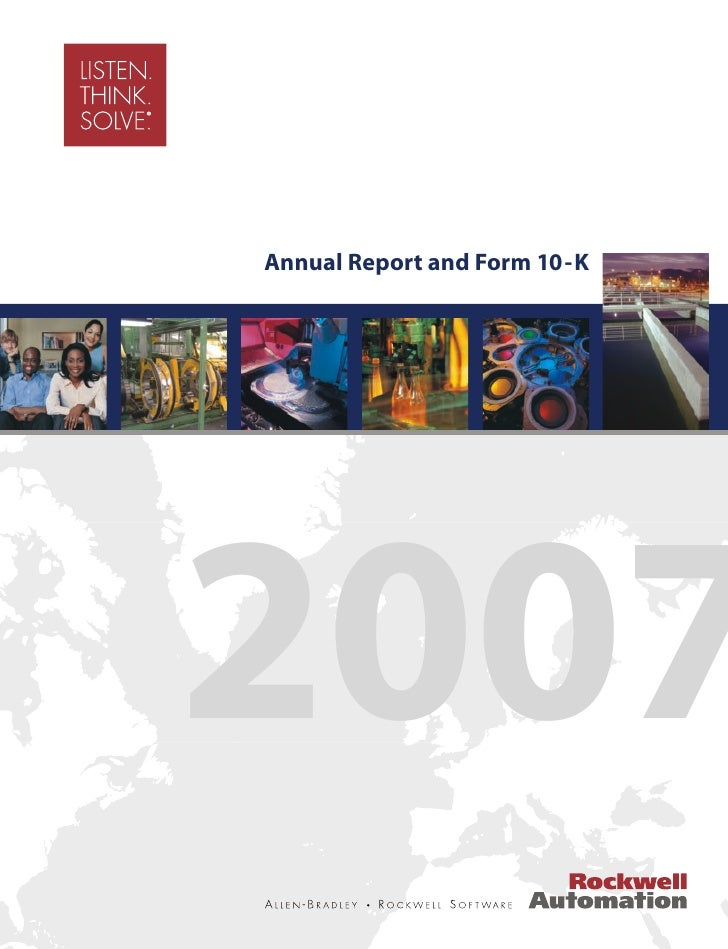 Annual Report and Form 10-K     2007