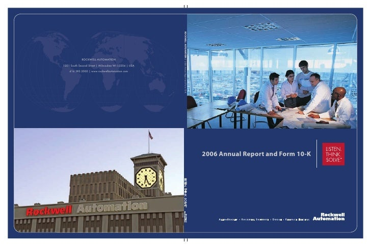 2006 Annual Report and Form 10-K