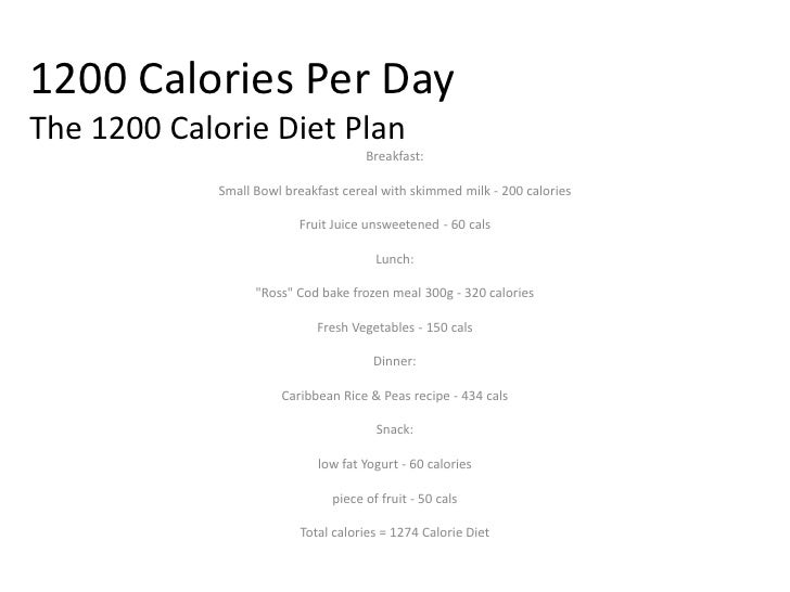 1200 On The Go Diet Menu