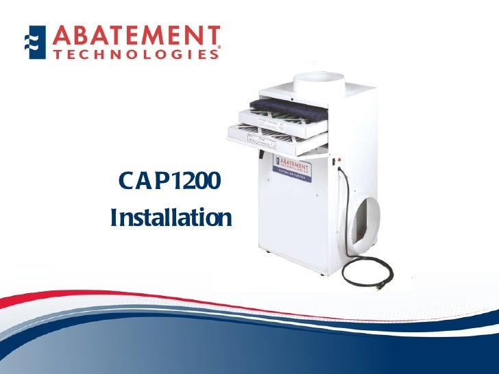CAP1200  Installation