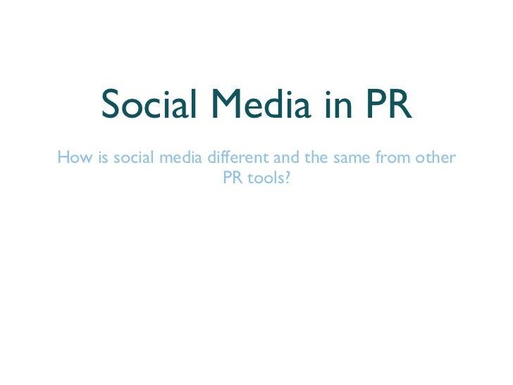 PR Training with Social Media