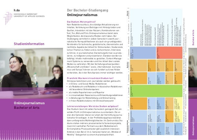 Studieninformation Onlinejournalismus (Bachelor)