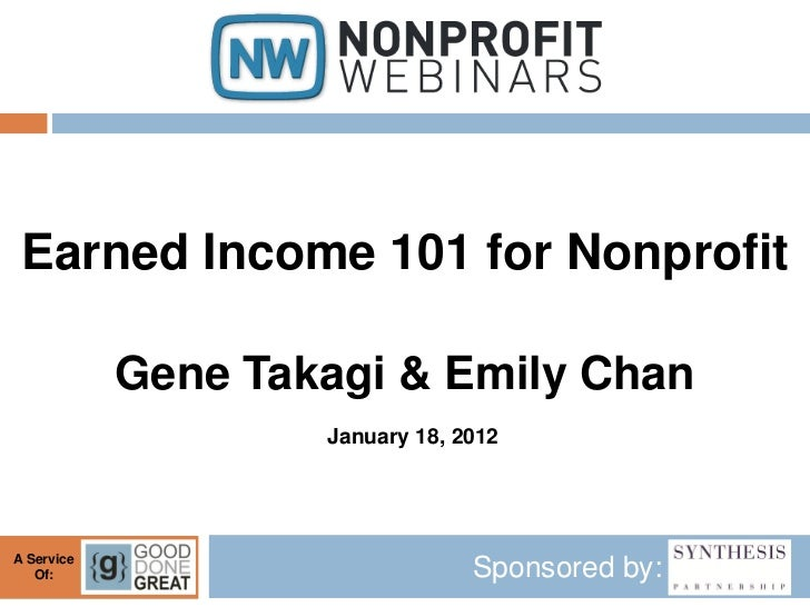 Earned Income 101 for Nonprofits