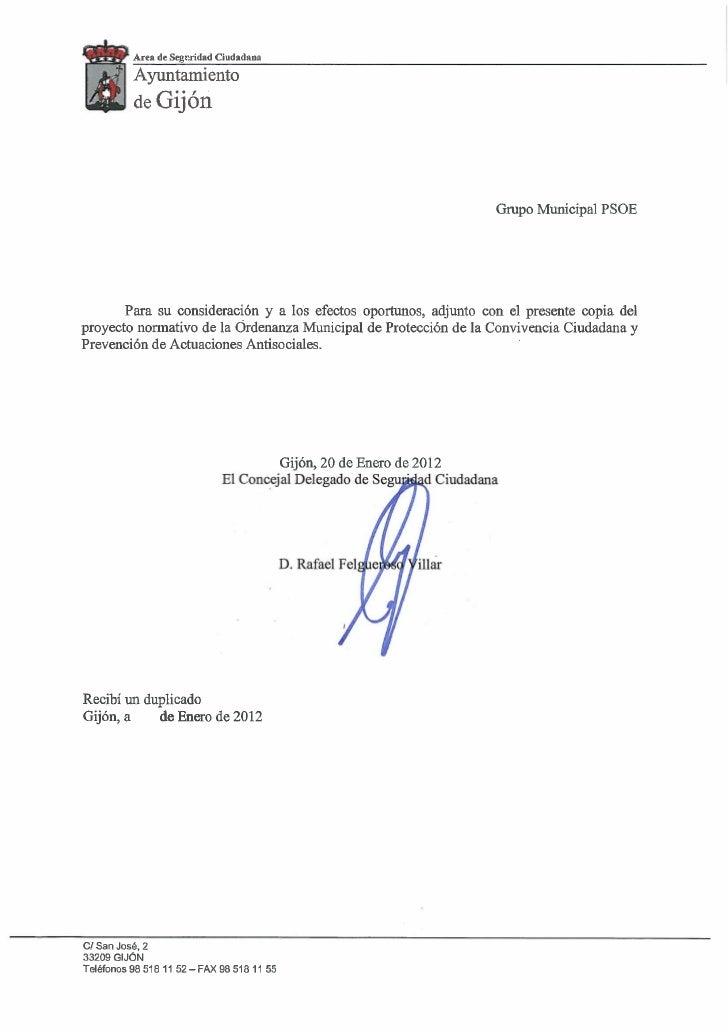 Area de Segcndad Ciudadana           Ayuntamiento           de Gijón                                                      ...
