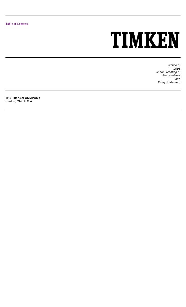 timken 2005_proxy
