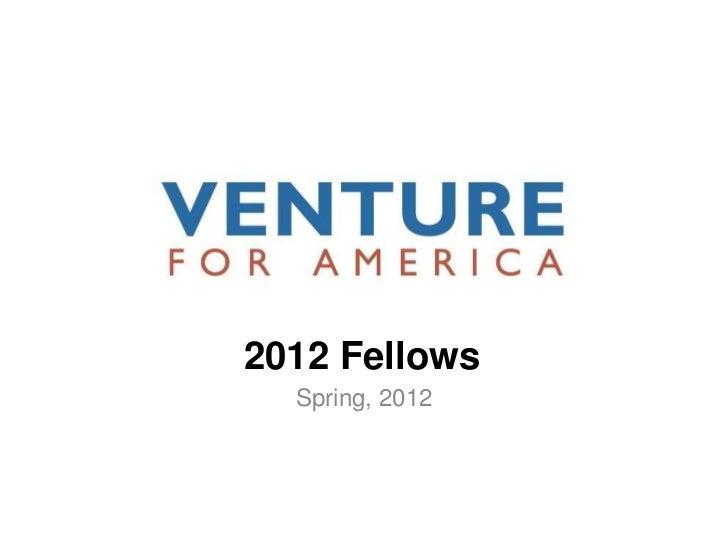 Venture for America for Fellows