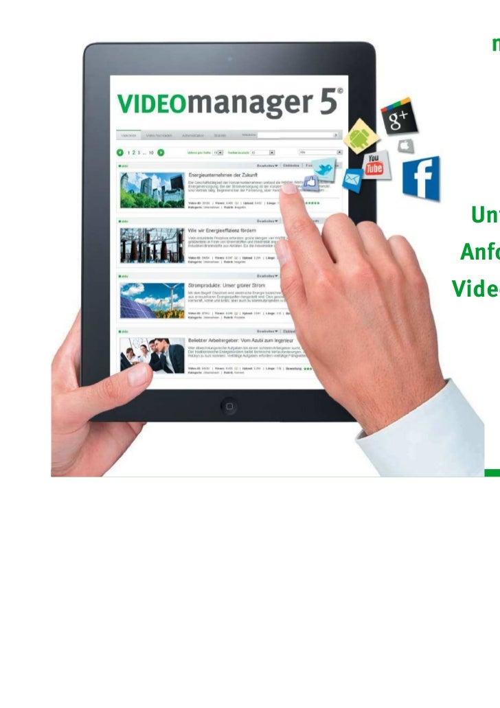 Was haben                        Unternehmen für                       Anforderungen an                       Videotechnol...