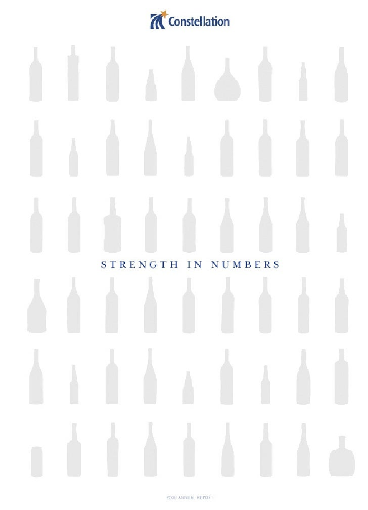 For Constellation Brands, Strength in Numbers is more than words. We demonstrate our numerical strength in a multitude of ...
