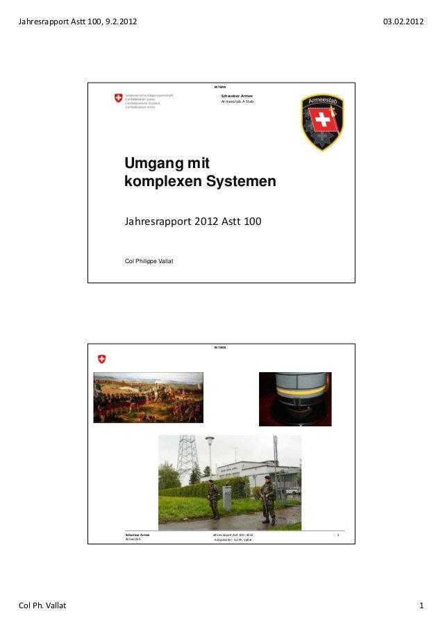 Jahresrapport Astt 100, 9.2.2012                                                      03.02.2012                          ...