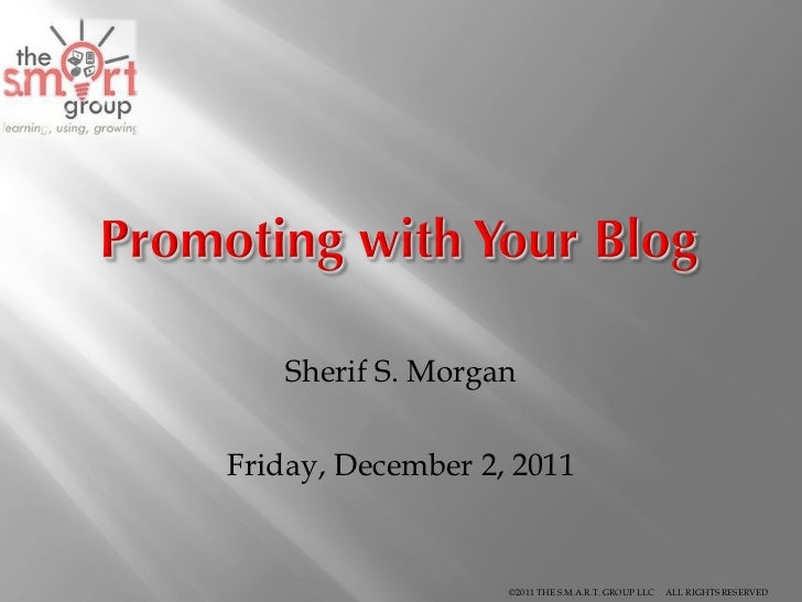Sherif S. Morgan Friday, December 2, 2011