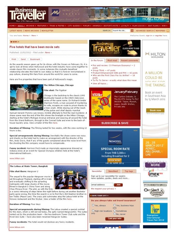 ฺฺBusinesstraveller.asia (five hotels that have been movie sets)