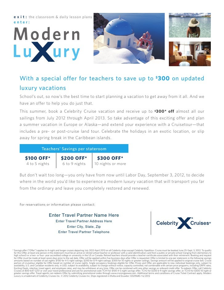 e x i t : the classroom & daily lesson plans enter:       With a special offer for teachers to save up to $300 on updated ...