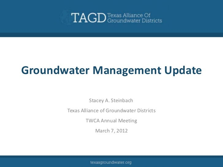 Groundwater Management Update