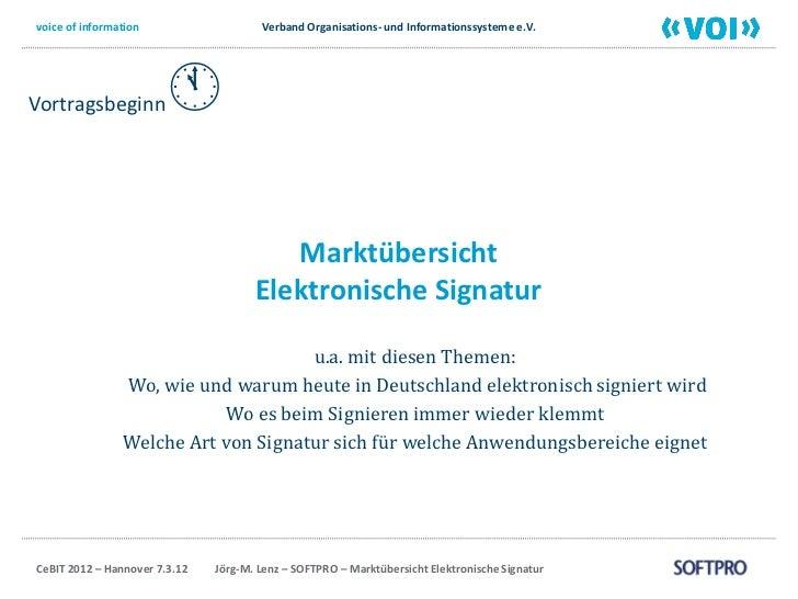 voice of information                   Verband Organisations- und Informationssysteme e.V.Vortragsbeginn                 ...