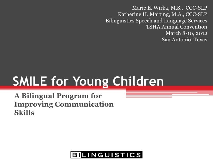 SMILE for Young Children: A Bilingual Program for Improving Communication Skills