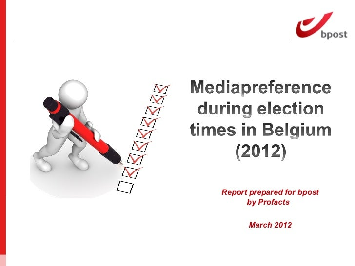 Mediapreference during elections in Belgium