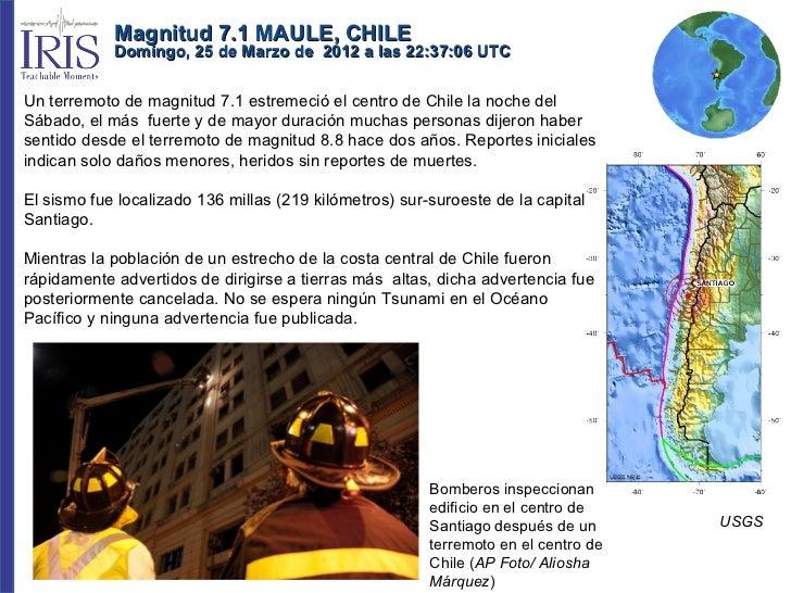 Terremoto 25 Marzo Chile