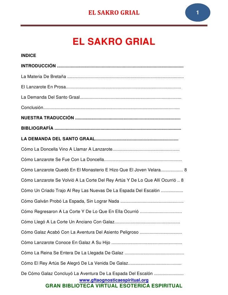 EL SAKRO GRIAL                                                           1                                      EL SAKRO G...