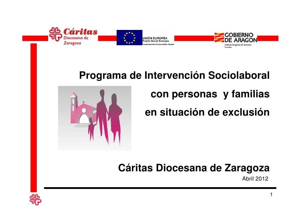 Proyecto de Intervencion Sociolaboral con Familias y Personas Excluidas