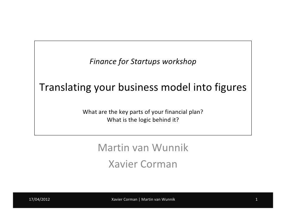 Workshop: Financial Plan