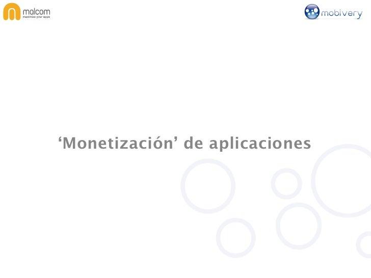 'Monetización' de aplicaciones