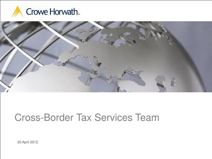 Cross-Border Tax Services Team20 April 2012