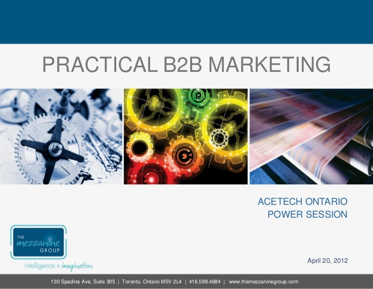 Practical B2B Marketing for AceTech Ontario