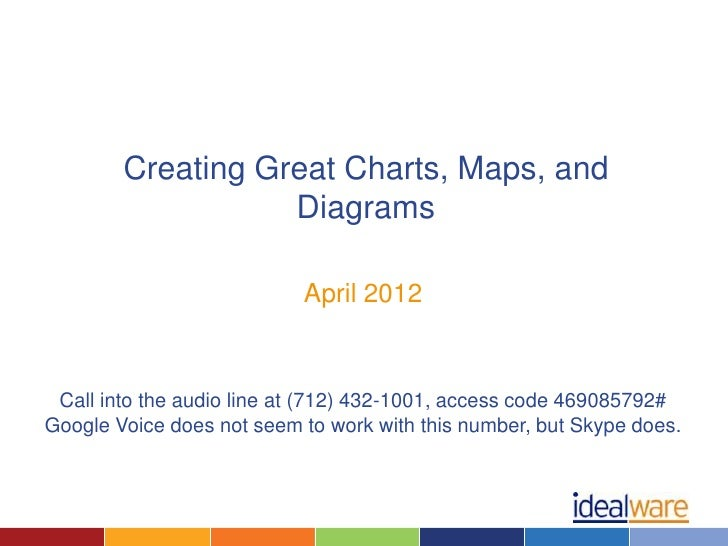 Creating Great Charts, Maps, and                   Diagrams                           April 2012 Call into the audio line ...