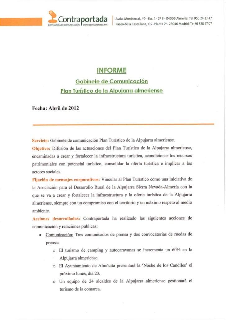 120501 informe plan turístico alpujarra almeriense abril 2012